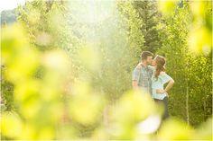 engagement session aspen trees depth of field kiss pose ideas telluride wedding photographers