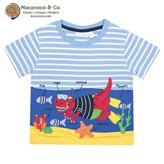 Bright and colourful, perfect for summer days.    Snorkelling dinosaur themed cotton T-shirt with fun appliqué to front.      Dinosaur appliqué to front  Cotton lined top suitable for sensitive skin  Round neck  Short sleeves  100% Cotton  Designed in England  Machine washable      Order athttp://www.macanoco.com/shop/jojo-maman-bebe-snorkelling-dinosaur-t-shirt/ | Shop this product here: http://spreesy.com/MacanocoAndCo/68 | Shop all of our products at…