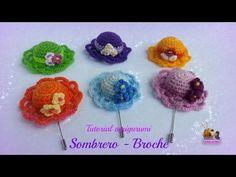 VIDEO - Tutorial amigurumi - Sombrero (broche) - YouTube