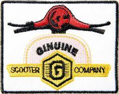 GINUINE? - GENUINE SCOOTER Motorscooter Logo Patch  Iron on Jacket T-shirt  Vest Cap Badge