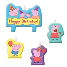 Check out Peppa Pig Candle Set - Discount Supplies and Decorations from Wholesale Party Supplies