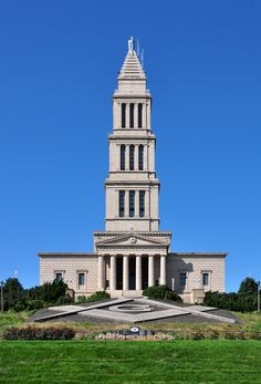The George Washington Masonic National Memorial is a Masonic building and memorial located in Alexandria, Virginia, outside Washington, D.C. It is dedicated to the memory of George Washington, the first President of the United States and a Mason. The tower is fashioned after the ancient Lighthouse of Alexandria in Egypt.