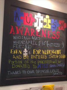 Autism awareness board