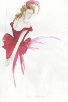 A sketch of a dress for the new Holiday collection by Banana Republic, based on a costume from the movie