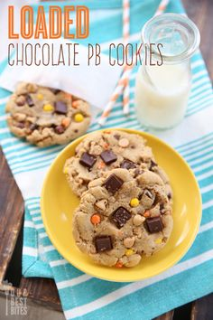 Jumbo Bakery-Style cookies with chewy edges and soft centers. Loaded Chocolate PB Cookies from Our Best Bites Chocolate Peanut Butter Cookies, Peanut Butter Desserts, Cookie Desserts, Dessert Recipes, Yummy Recipes, Yummy Cookies, Yummy Treats, Delicious Desserts, Sweet Treats