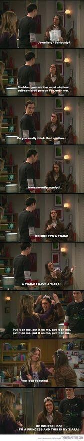 Big bang theory! I'd do the same thing. Lol.
