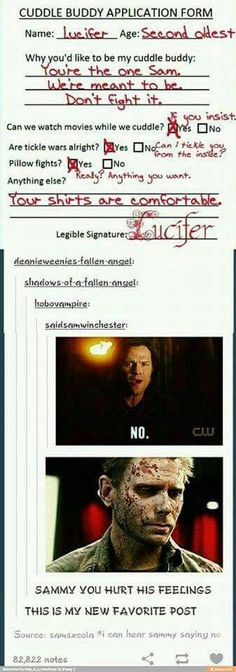 Sammy why you do that to Lucifer?