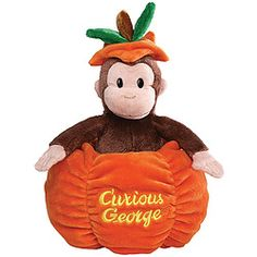 What's cuter than Curious George being curious about a pumpkin? Our Curious George Halloween Plush! It's the perfect treat for little ones as an alternative to giving candy. Halloween Goodies, Halloween Themes, Trunk Or Treat, Curious George, Little Monkeys, Halloween Birthday, Pumpkin Carving, Baby Gifts, Teddy Bear