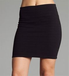 sofiesof's save of Black Knit Pencil Skirt on Wanelo