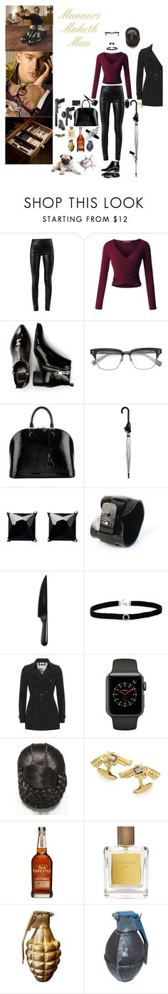 """""""Kingsman/Statesman/Woman"""" by blackmagicmomma ❤ liked on Polyvore featuring Kingsman, Helmut Lang, LE3NO, Dolce Vita, Dita, Louis Vuitton, Fulton, Witchery, Chicago Cutlery and Caliber"""