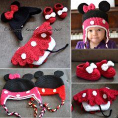 Minnie Little Mouse Hat and Shoes Pattern | UsefulDIY.com Follow Us on Facebook --> https://www.facebook.com/UsefulDiy