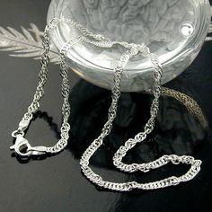 Collier Singapur diamantiert Silber 925  diamantiert