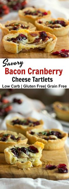 Savory Bacon Cranberry Cheese Tartlets- Low Carb , Keto, & Gluten Free. #mahonmenorca #sponsored