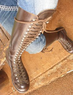 But this is the very first we've ever had here from the well-respected house of Rautureau. Once these are on your feel, you may be the only guy sporting a pair of genuine Rautureau's for a thousand miles. Laced Boots, Men's Boots, Sexy Boots, Tall Boots, Jeans And Boots, Mens High Boots, Engineer Boots, Sexy Jeans, Fashion Shoes