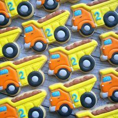 Trucks for Brooks' 2nd birthday!! #birthday #boy #truck #dumptruck…