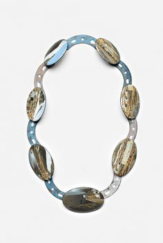 Kirsten Haydon ice industry neckpiece 2011 enamel, copper, photo transfer, paint, silver 280 x 160 x 10 mm