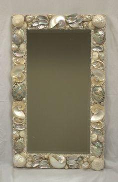 Beautiful Iridescent Nautilus Shells, and New Zealand Paua Shells X Seashell Painting, Seashell Art, Seashell Crafts, Seashell Projects, Beach Themed Crafts, Beach Crafts, Oyster Shells, Sea Shells, Seashell Chandelier