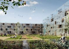 OUTSIDE Ellebo Housing Renovation  FORA + Beth Hughes Competition Finalist - Social Housing - Ellebo - 2013
