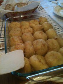Knedle (from Austrian Knödel) (Potato dough filled with fruit)