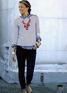 ギンガムチェックシャツの着こなし・コーデ一覧【レディース】   MILANDA