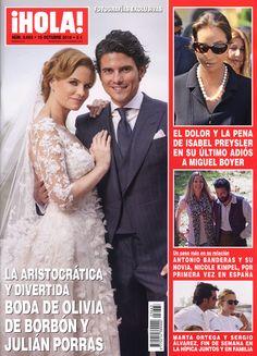 Esta semana en ¡HOLA!: Fotografías exclusivas de la aristocrática y divertida boda de Olivia de Borbón y Julián Porras