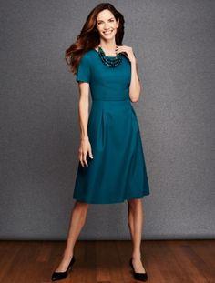 Talbots - Italian Flannel Pleated Dress | Dresses |