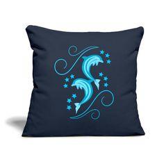 Stylowoodziani | Delfiny - Poszewka na poduszkę 45 x 45 cm Throw Pillows, Shop, Cushions, Decorative Pillows, Decor Pillows, Store, Scatter Cushions