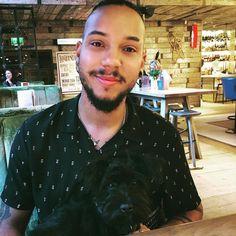 Me and this little lad @dukethart @albertsschloss Celebrating my 28 years  Pappa & pup  # #puppy #dog #puppies #pet #happy #instagood #instapuppy  #doggie #doggo #minischnauzer #schnauzer #miniatureschnauzer #me #selfie #gpoy  #menwithbeards #boyswithbeards  #beardgang #beard #beardy #beardsofinstagram #instagood #instamood #walkies #braids #longhair #patta #piercing #longhairdontcare