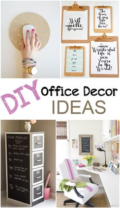 I'm really in love with my small office in the spare bedroom. I finally feel like a grown up now that I have one. However, office supplies can get pricey and they don't exactly look all that nice. So here are some things I plan to do to spice up my office décor and supplies.