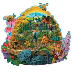 Busy Bees 750 Piece Shaped Jigsaw Puzzle