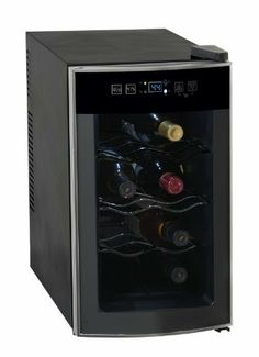 AVANTI 8 BOTTLE THERMOELECTRIC WINE COOLER - BLACK CABINET W/STAINLESS STEEL FRONT FINISH AND GLASS DOOR by Avanti. $113.00. From the Manufacturer                AVANTI 8 BOTTLE THERMOELECTRIC WINE COOLER - BLACK CABINET W/STAINLESS STEEL FRONT FINISH AND GLASS DOOR                                    Product Description                Avanti EWC801 8 Bottle Thermoelectric Counter Top Wine Cooler - 8 Bottle Capacity Standard 750ml. All Electronic Cooling - No Compressor Needed. ...