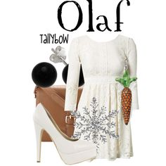 A fashion look from March 2014 featuring embroidered mini dress, white heel pumps and hand bags. Browse and shop related looks. Frozen Inspired Outfits, Frozen Outfits, Disney Outfits, Frozen Fashion, Disney Fashion, Dress Outfits, Dress Up, Dapper Day, Fandom Fashion