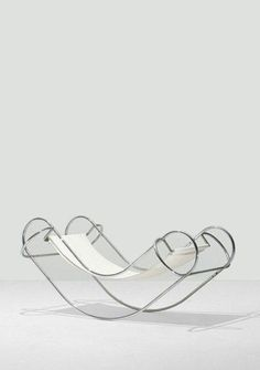 """""""When I'm 80 and sitting in a rocking chair listening to the Rolling Stones, there is absolutely no way I'm going to feel old or forget my younger days"""" - PATTY DUKE - (""""Symétrique Rocking Chair"""" designed by Jean-Michel Sanejouand in 1971)"""