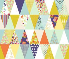Spring Forward (yardage or fat quarter cheater) fabric by cerigwen on Spoonflower - custom fabric