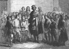 Ecole palatine Charlemagne protecteur des lettres
