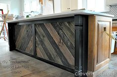 This is stunning. diy reclaimed wood kitchen island - This is stunning. diy reclaimed wood kitchen island The Effective Pictures - Pallet Furniture Kitchen Island, Kitchen Island Diy Rustic, Reclaimed Wood Kitchen, Reclaimed Wood Projects, Kitchen Islands, Kitchen Wood, Kitchen Ideas, Kitchen Design, Kitchen Tips