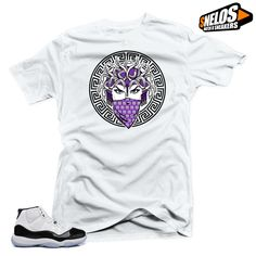 3fed2127a4d958 Shirt to Match Jordan 11 Concord-Medusa 45 White Tee  SNELOS   PersonalizedTee Jordan