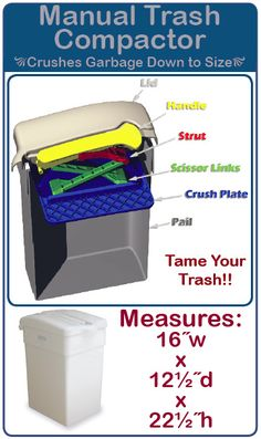 What Does A Trash Compactor Do trash krusher - trash can with built-in manual trash compactor