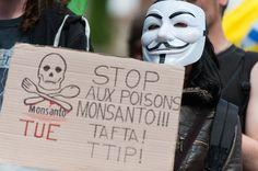 """""""L'union annoncée des deux géants Bayer et Monsanto, leaders mondiaux des pesticides et des semences, pourrait permettre à ce nouveau mastodonte de prendre le contrôle sur la chaîne agricole et ce, jusqu'à nos assiettes.""""... http://www.marianne.net/fusion-bayer-monsanto-si-cinema-science-fiction-avait-prevu-100245891.html"""