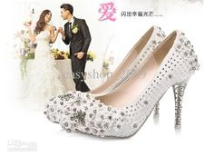 Wholesale Bride Shoes - Buy Wedding Shoes Red Diamond Bride Winter Wedding Shoe Crystal White High-heeled Shoes Lace Pearl Weddi, $176.14 | DHgate