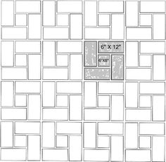 Ali 39 s pattern combo size percent 6x12 75 6x6 25 for Bathroom 94 percent