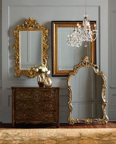 Design with Brilliance – Elaborately carved mirrors, lavishly sized on a grand scale create a striking presence while making your space feel even larger.