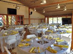Seattle Parks and Recreation: Mt Baker Sailing Center Rentals - holds 120 people.  $270/hr (Main hall, Kitchen, staffing, A/V use, small meeting room) + $275 in fees