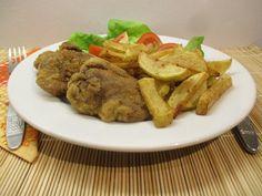 Rántott csirkemáj - petrezselymes újkrumplival -igazán finom! Beef, Food, Meat, Essen, Meals, Yemek, Eten, Steak