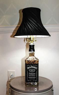Jack Daniels bottle lamp instructions diy
