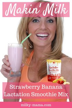 What if I told you that you could boost your milk supply with a delicious treat everyday!? Our delicious Strawberry Banana Smoothie is packed with nourishing, milk-making ingredients! Click here for this perfect drink for Milky Mamas that are on the go! |Breastfeeding foods| Breastfeeding newborn| Extended breastfeeding| New mothers| Nursing baby|