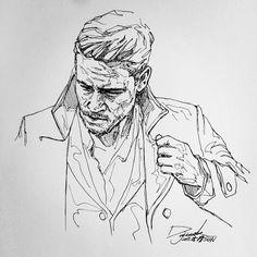 [펜화] man / 스케치,그림,드로잉,일러스트,낙서,sketch,penart : 네이버 블로그