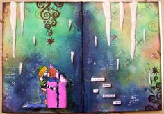 """Page 2 from my art journal  ... """" love is the greatest gift""""  #artjournal #artjournalspread"""