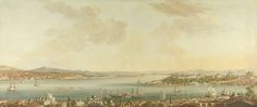 View of Constantinople (Istanbul) and the Seraglio from the Swedish Legation in Pera, Antoine van der Steen, c. 1770 - 1780