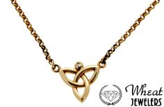 Keith Jack yellow gold trinity necklace available here at Wheat Jewelers